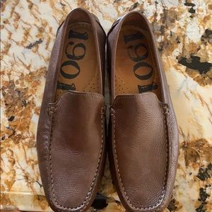 Men's 1901 brown driver loafers